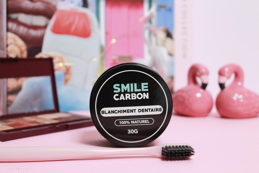 Smile carbon charbon blanchissant dentaire